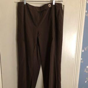 Anne Klein brown straight leg pants